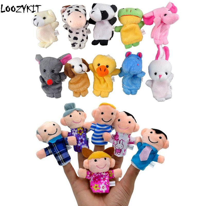 Animal Finger Puppets Plush Cloth Doll Baby Educational Hand Kids Boy//Girl Toy