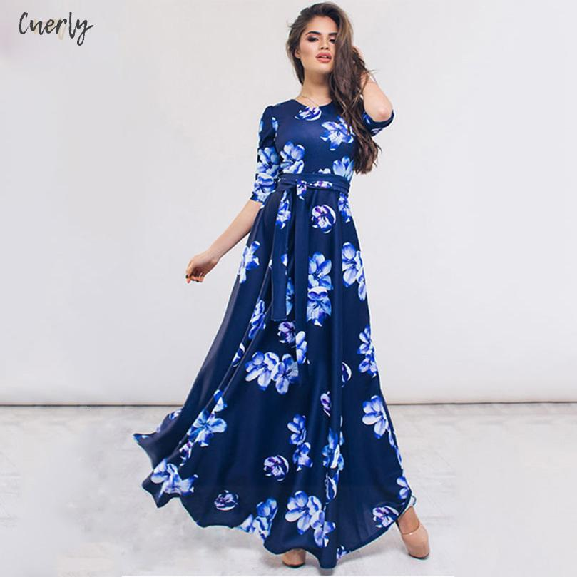 Flower Print Summer Long Dress Sexy Maxi Dresses For Women Evening Blue Vintage Party Dress Floor Length Vestidos De Festa