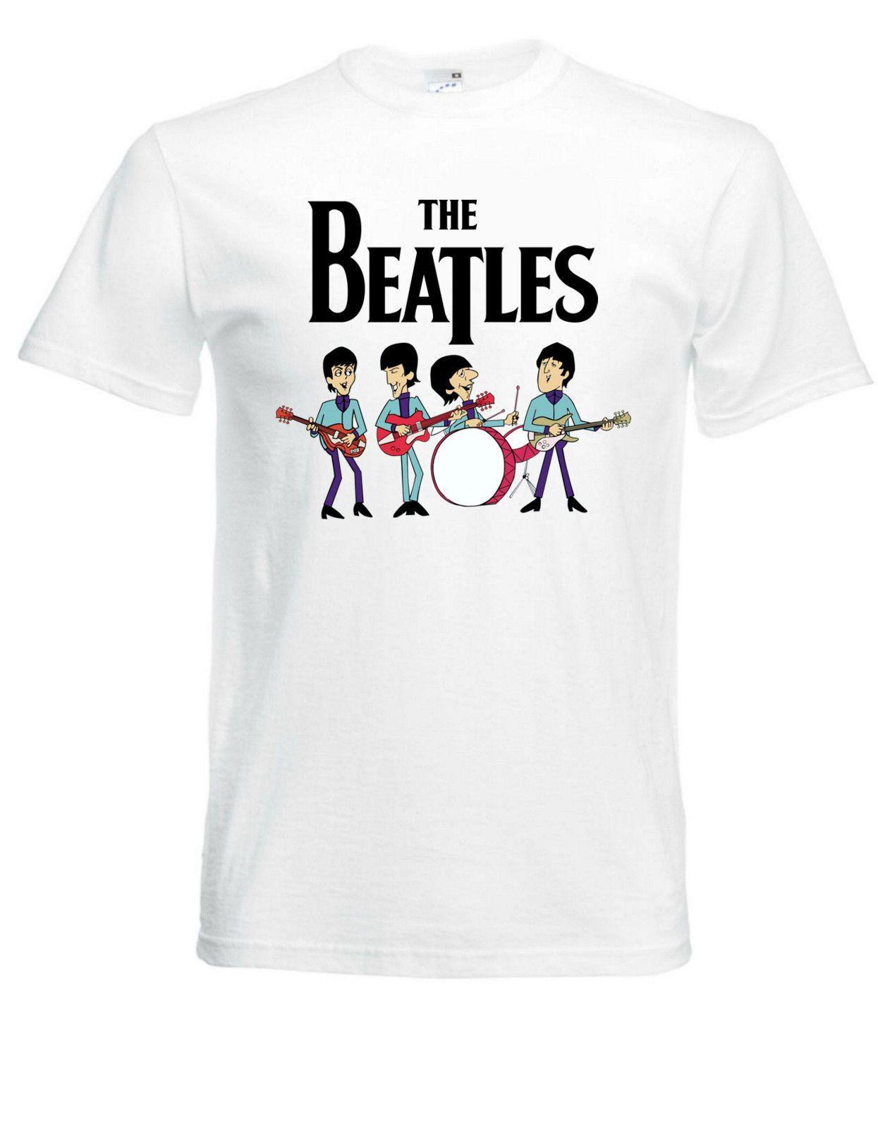 eb1050a17245c Compre The Beatles Cartoon White Nueva Camiseta Fruit Of The Loom TODOS LOS  TAMAÑOS Moda Casual Algodón Estampado Tops Camisetas Hombre A  11.01 Del ...