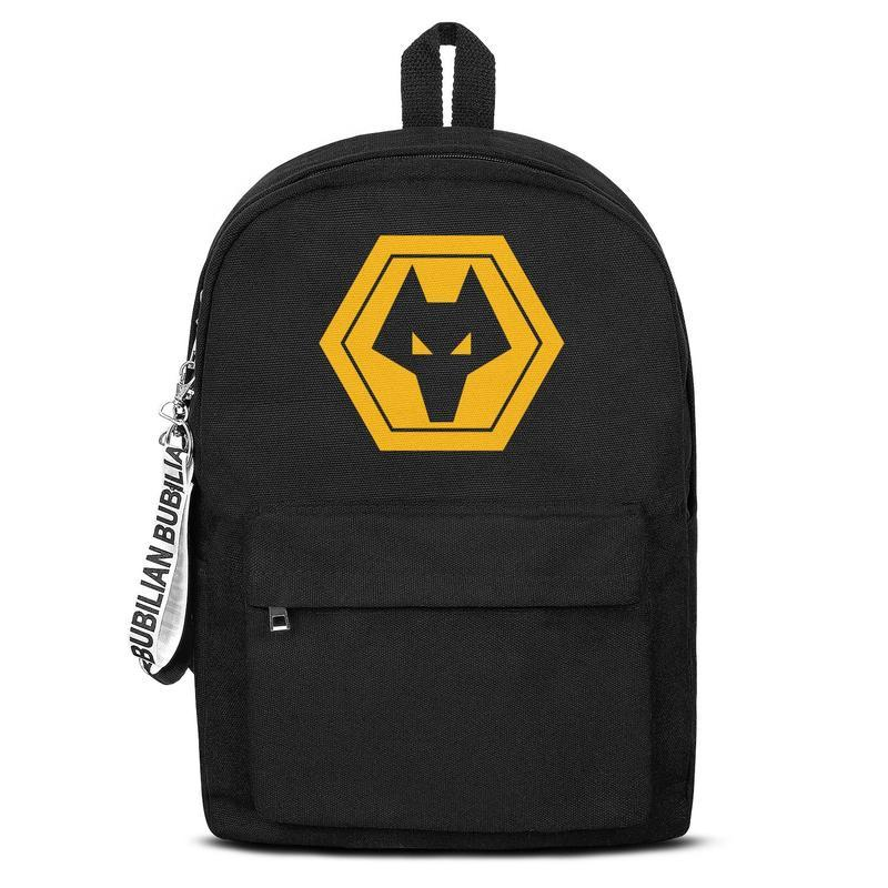 Wolverhampton Wanderers F.C.Wolves Classic yellow Free Shipping Women Men Canvas School Backpack Student Backpack Lightweight Travel Backpac