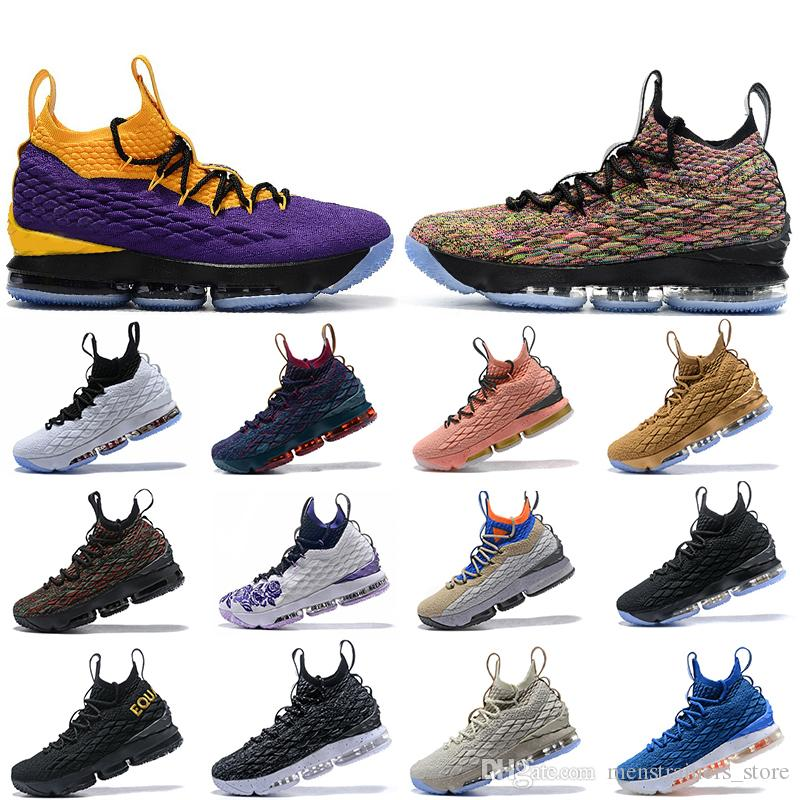 Hot Sale Equality Mowabb 15 Men Basketball Shoes Waffle BHM Purple Rain Hollywood CAVS 15s Designer Mens trainers Sports Sneakers US 7-12