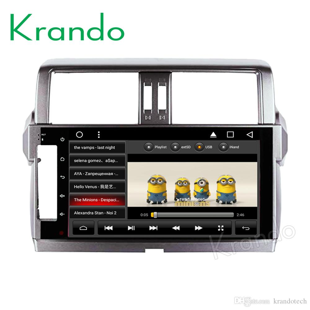 "Krando Android 8.1 10.1"" IPS Full touch Big screen car multimedia player for TOYOTA Prado 2018 gps navigation GPS video playe car dvd"