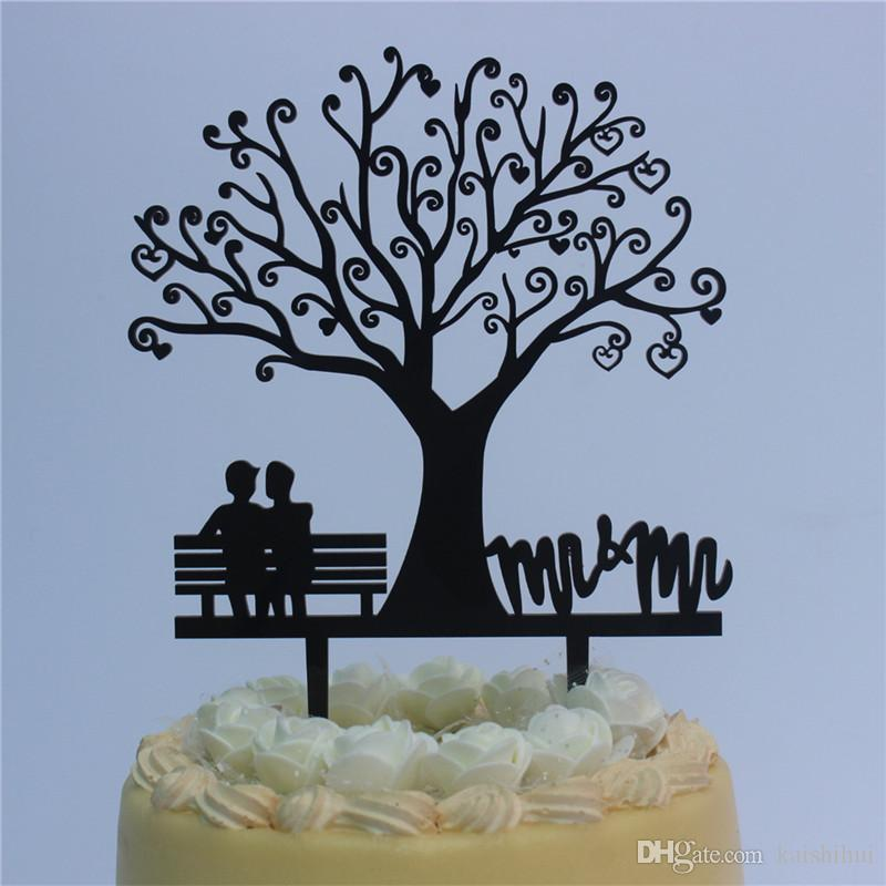 2019 Rustic Wedding Cake Topper Bride And Groom Unther Tree