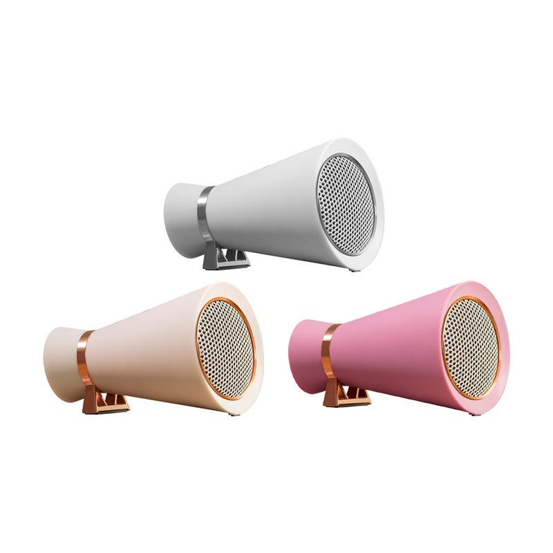 New Mini Bluetooth Speaker Car Mounted Player Stereo Portable Surround Vintage Horn Shaped Speakers Gift For Phone