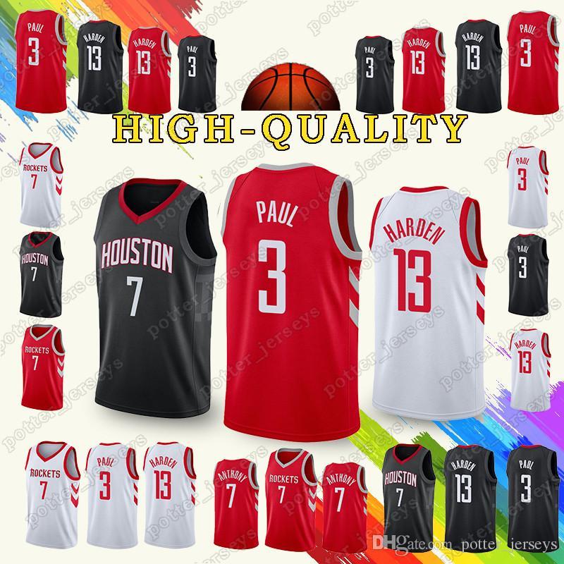 8c21889c8 2019 New Houston Chris 3 Paul Jersey Rockets James Harden 13 Carmelo 7  Anthony Jerseys Youth Adult Shirt UK 2019 From Potter jerseys