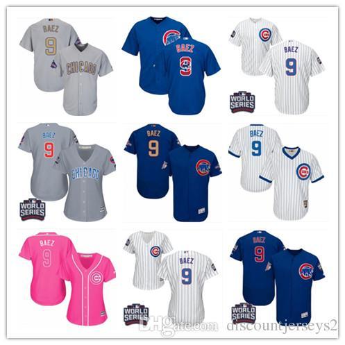 best service 1bdd8 1eadf 2019 top Cubs Jerseys #9 Javier Baez Jerseys men#WOMEN#YOUTH#Men s Baseball  Jersey Majestic Stitched Professional sportswear