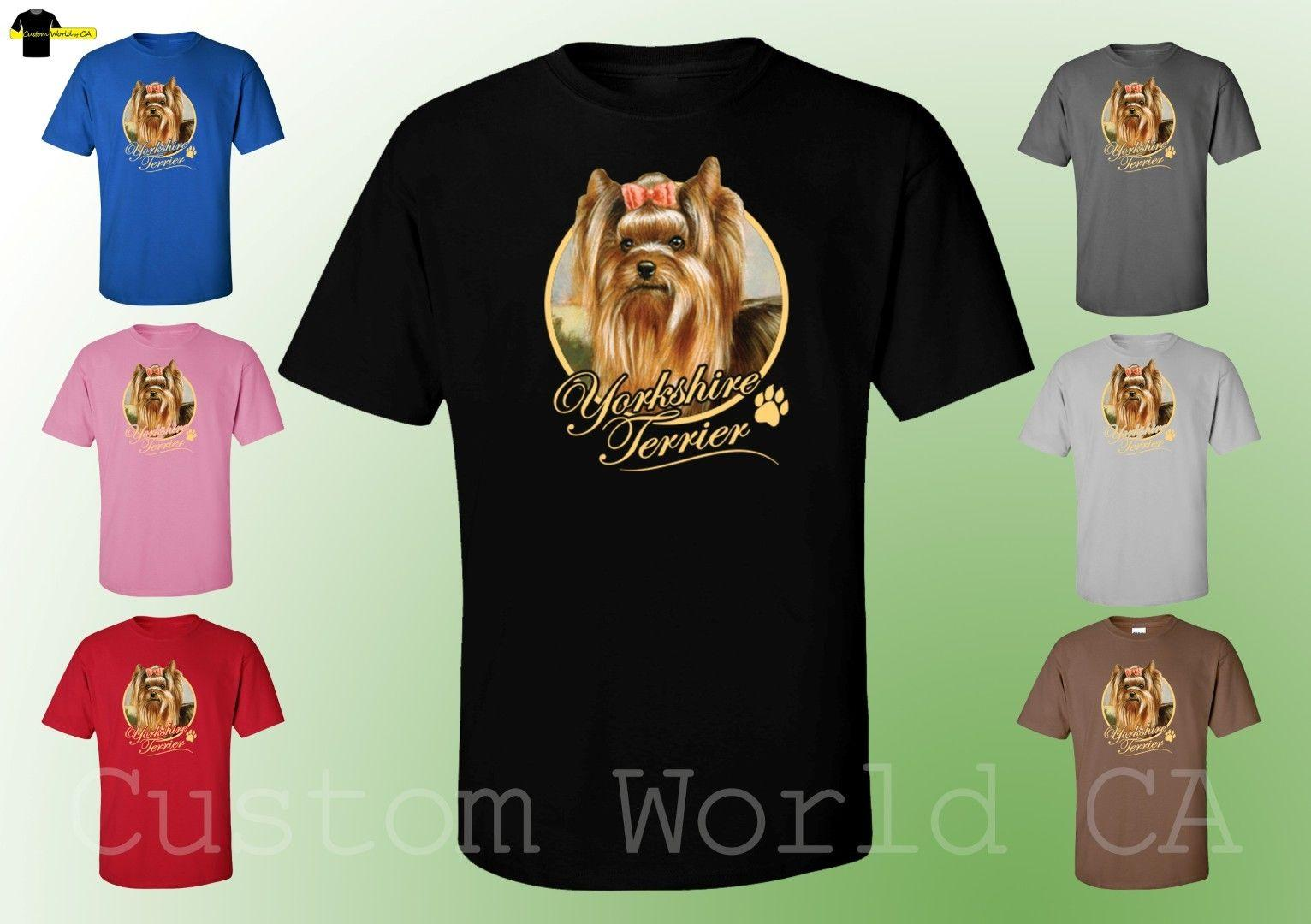 Men T Shirt Yorkshire Terrier Dog Image Puppies Very Cute Dogs Funny