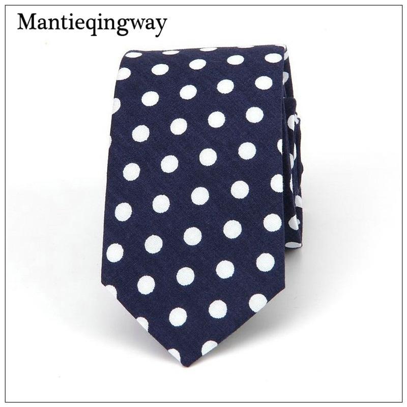 f708322d739b Mantieqingway 6cm Cotton Dots Tie For Men Polka Dots Tie For Wedding Necktie  Business Gravatas Slim Collar Neckwear Ties Neck Ties Paisley Tie From  Playnice ...