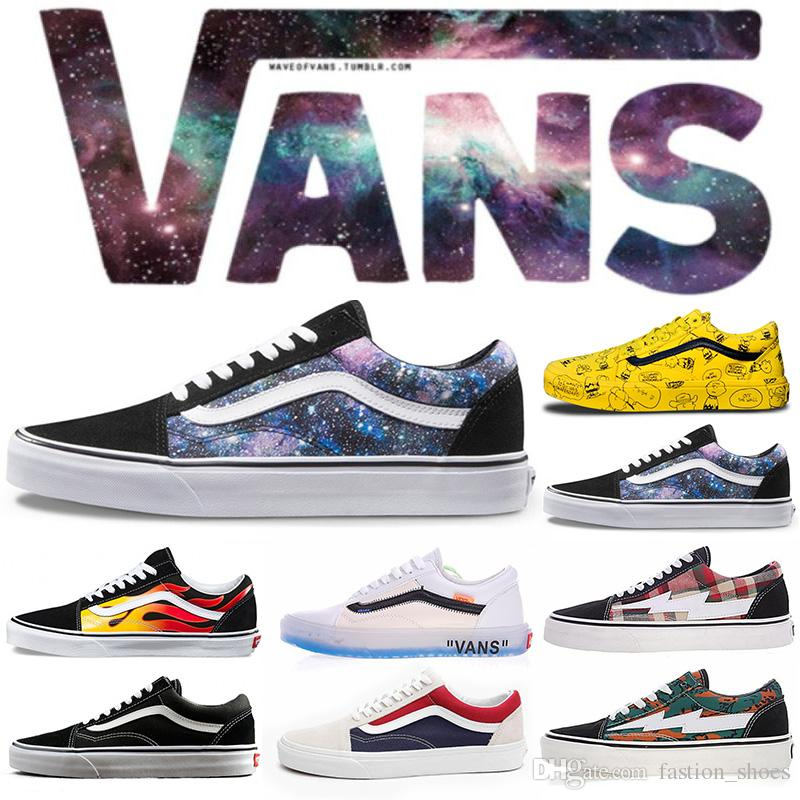 5e57bc60e13 2019 Originals House Off VAN Old Skool Sk8 Casual Shoes Mens Womens Skateboarding  Classic Black White Canvas Outdoor Sports Unisex Size 36 44 From ...