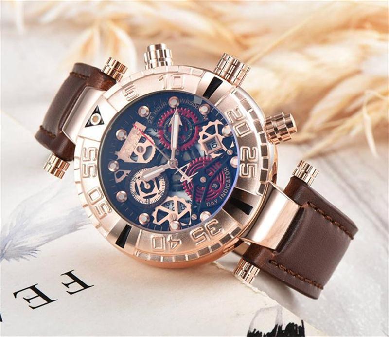 f6f8087a2a4 New INVICTA Large Dial Luxury Men s Quartz Watches Invicta Watch ...