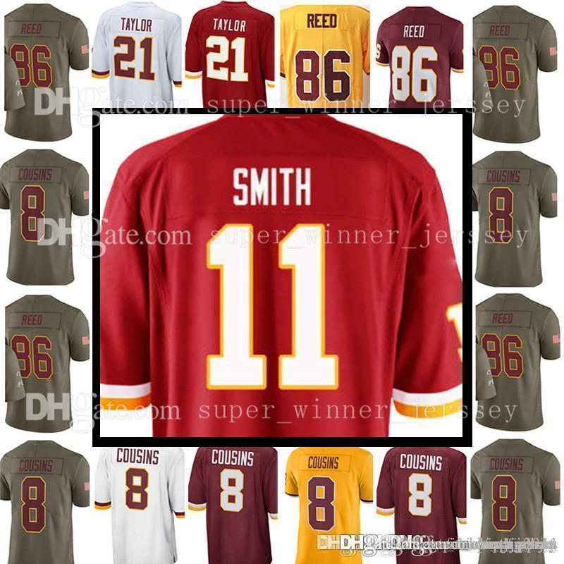 best cheap 545c7 e3d34 Washington Redskin Jersey Men's #11 Alex Smith 8 Kirk Cousins 21 Sean  Taylor Jersey 72 Eric Fisher 86 Reed Jerseys