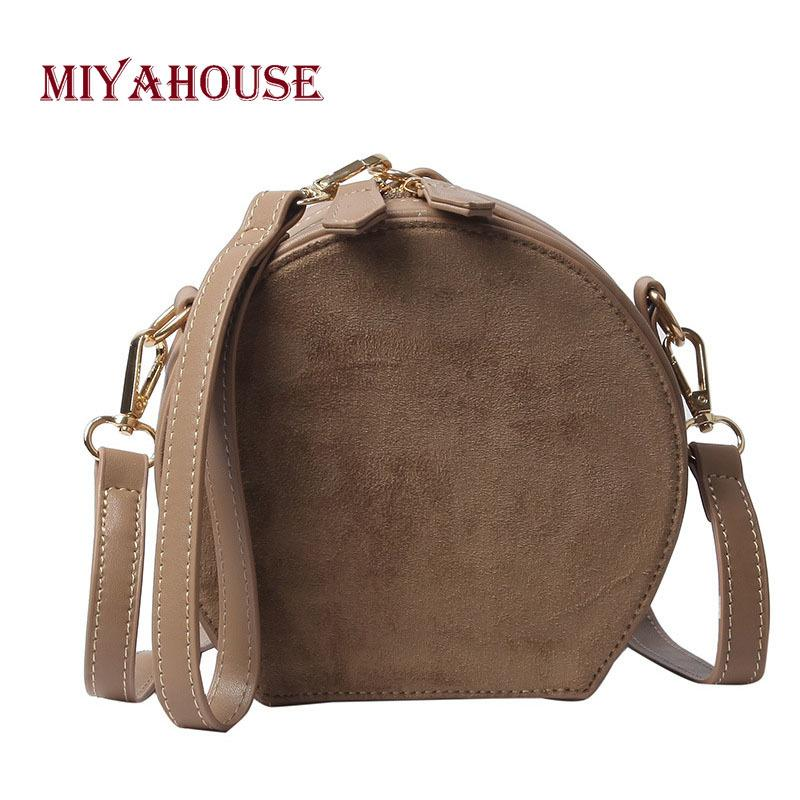 2019 Fashion Miyahouse Fashion Matte Leather Women Small Round Bags Korean  Simple Female Messenger Bag Candy Color Shoulder Bag For Girls Leather Bags  For ... 59c6468d09480