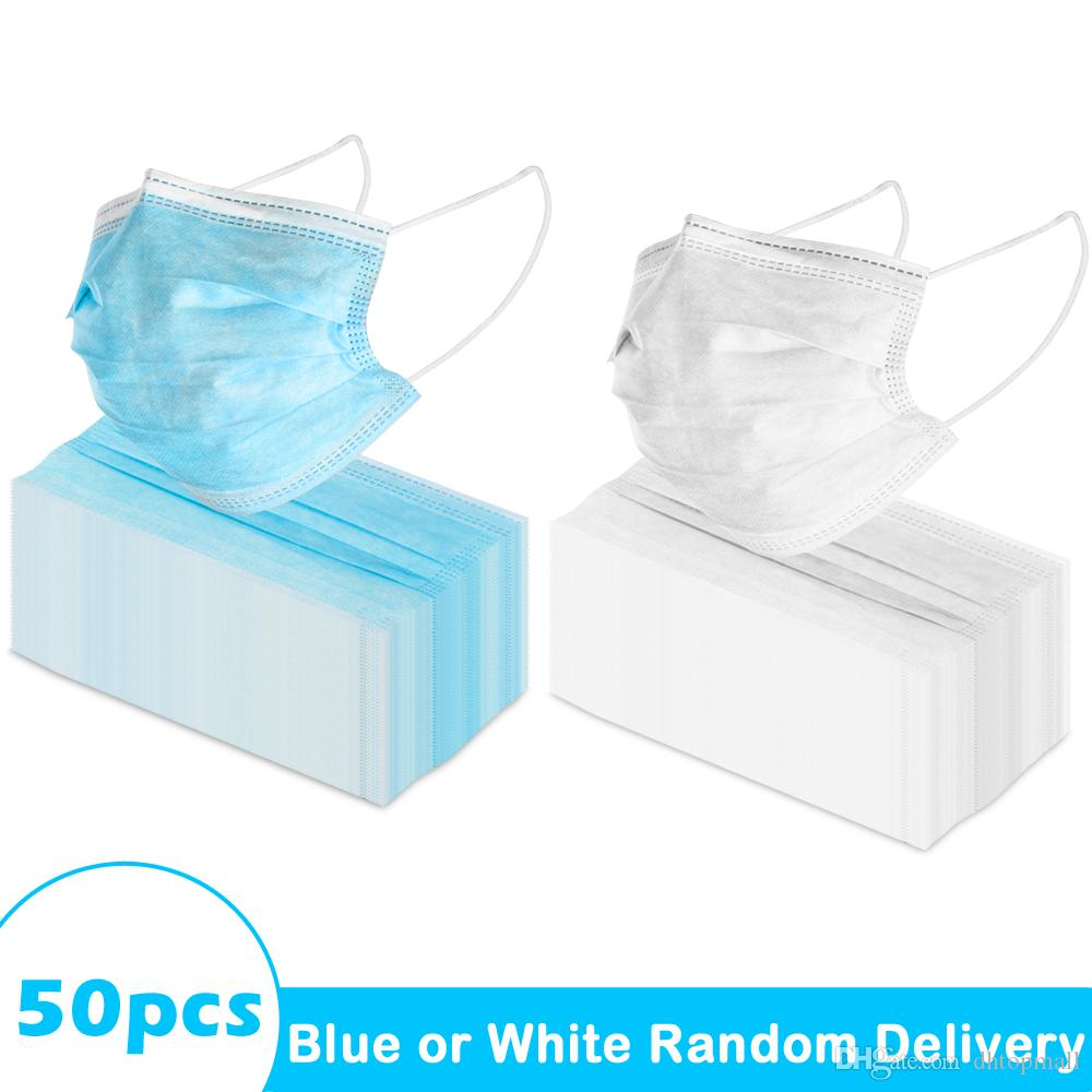 2020 New Ship From USA In Stock Non Woven 3 Ply Disposable Face Mask For Adult With Elastic Earloop  From Dhtopmall, $68.33Com