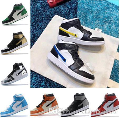 Basketball 1 Og Mens New Shoes Chicago Black White Pine Green Homage To Home Top Paris Saint German 1s Men Designer Sneakers 7-13