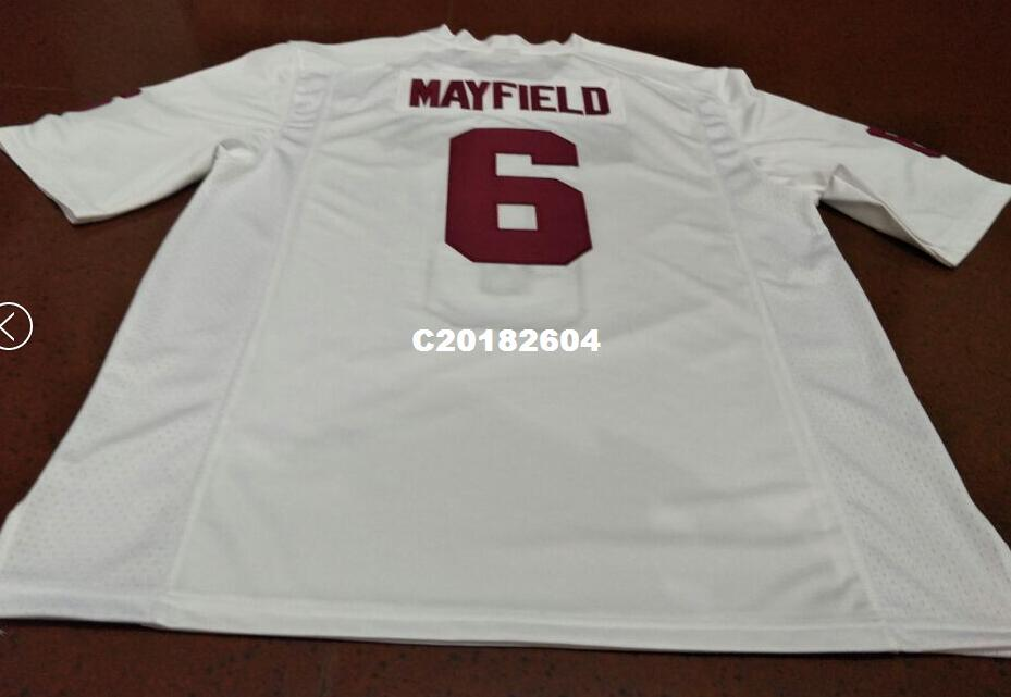 Men  6 Baker Mayfield Red White Oklahoma Sooners Alumni College Jersey Or  Custom Any Name Or Number Jersey Baker Mayfield Online with  42.61 Piece on  ... 1a627fa9f