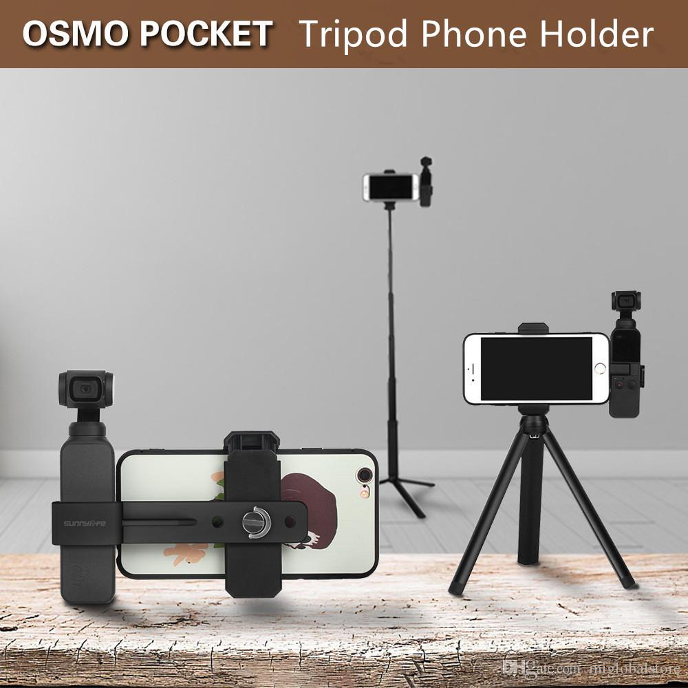 cbd99fdffb5b DJI Osmo Pocket Mini Phone holder Tripod extension Rod Portable Travel  Tripod For Apple Samsung Sony Huawei Oppo