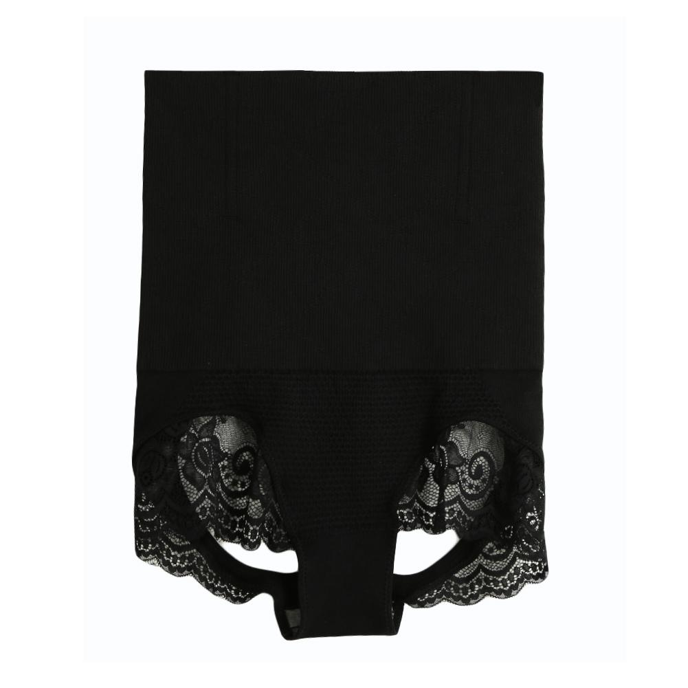 Women High cut panties fajas posparto Body Slimming Control Thin Seamless Tummy Waist Shapewear Lace corset postpartum