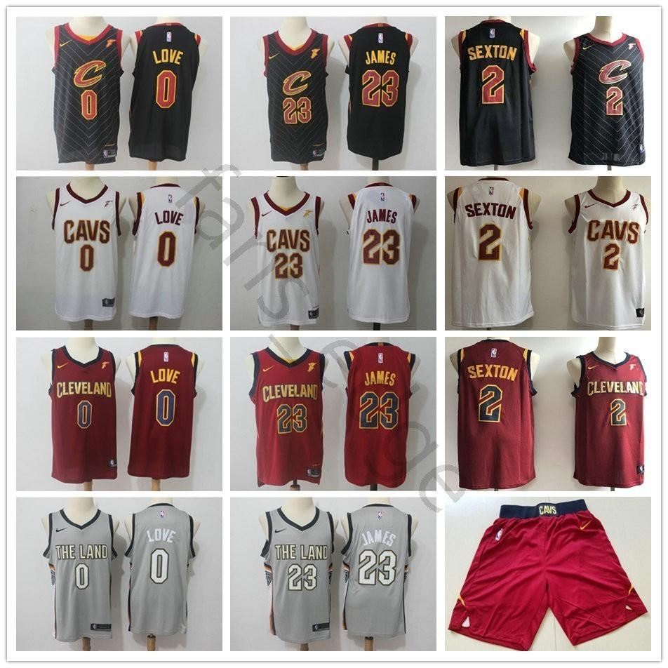 6c703309fed ... inexpensive 2019 cleveland 0 kevin love 2 collin sexton jerseys red  black white blue grey 5