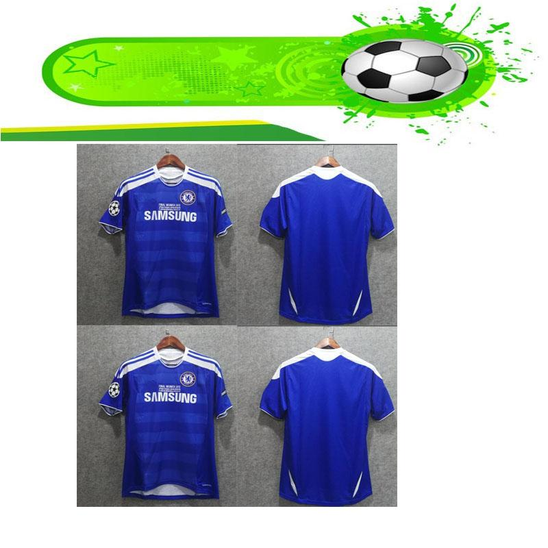 official photos b47dc 4eea6 chelseaine retro 2012 Final Lampard Drogba jersey shirt