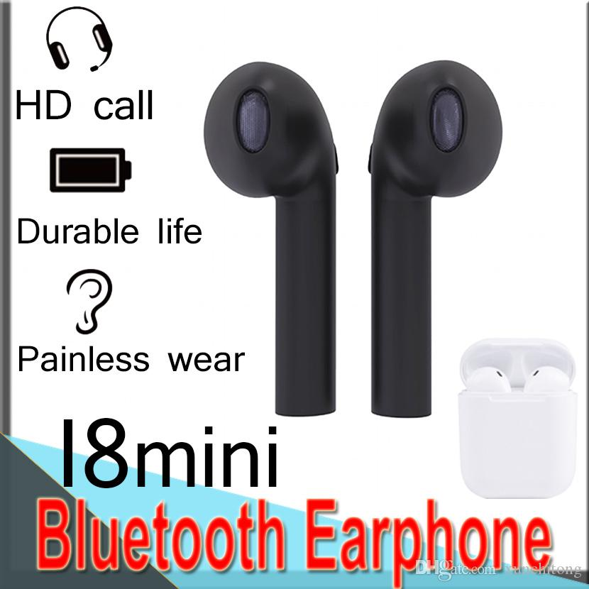 91682f4d7f0 I8 Mini Wireless Earphones Bluetooth 4.1 Earbuds 180 Degree Rotation Stereo  Headset For IPhone X Galaxy S8 With Retail Box EXMNI8 50 Packs Best Quality  ...