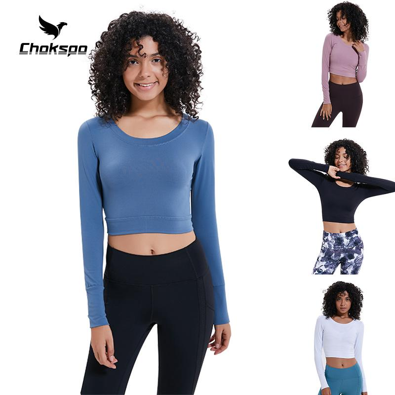 8cf3480176a7f3 2019 Yoga Shirts Women Full Sleeves Womens Gym Tops Fitness Tops Sports  Shirts Ladies Sports Wear For Women Gym For Running Cycling From Wudun, ...