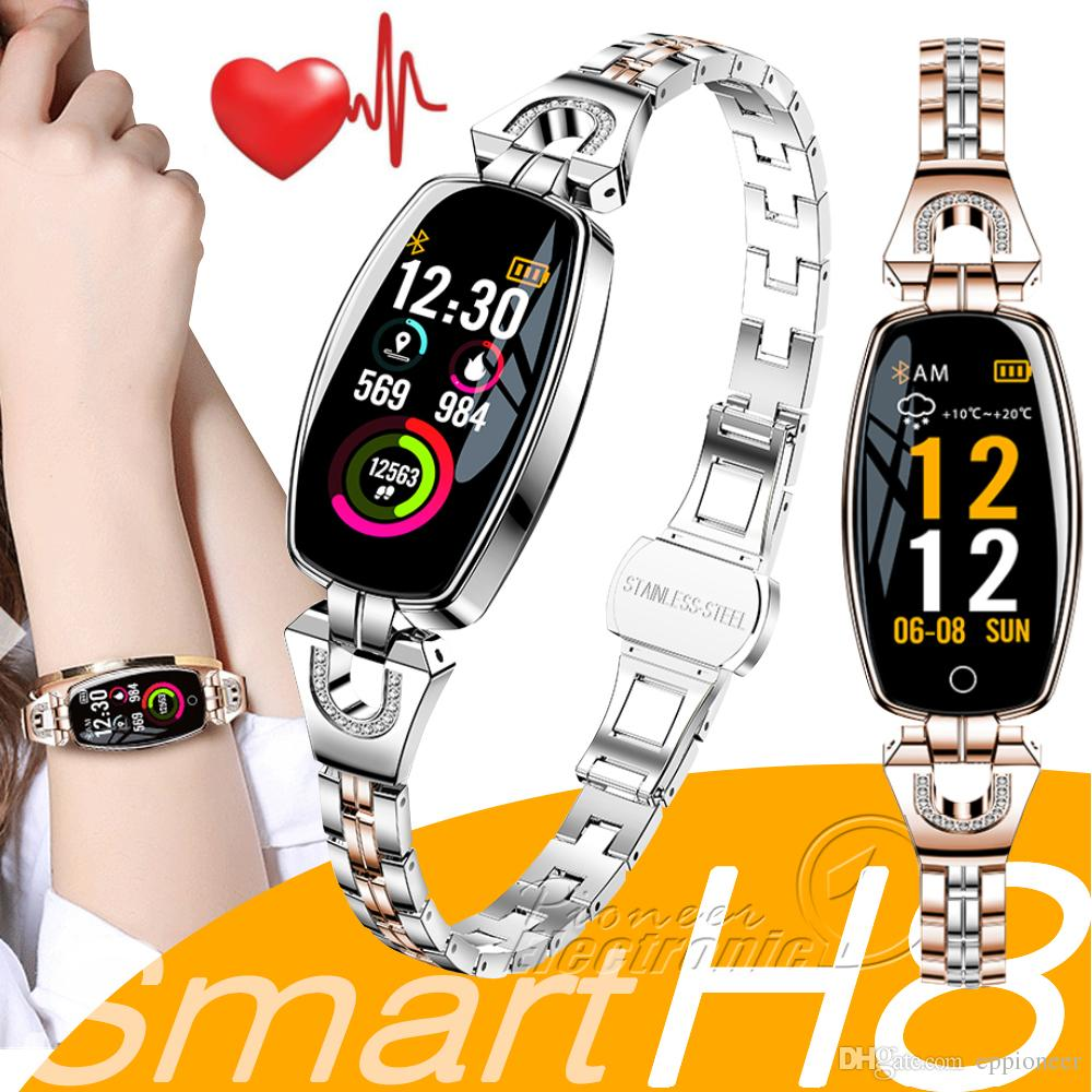 H8 Women Smart Wristband Fitness Bracelet smartwatch Heart Rate Monitor Blood Pressure Blood Oxygen Smart band Best Gift for Lady apple