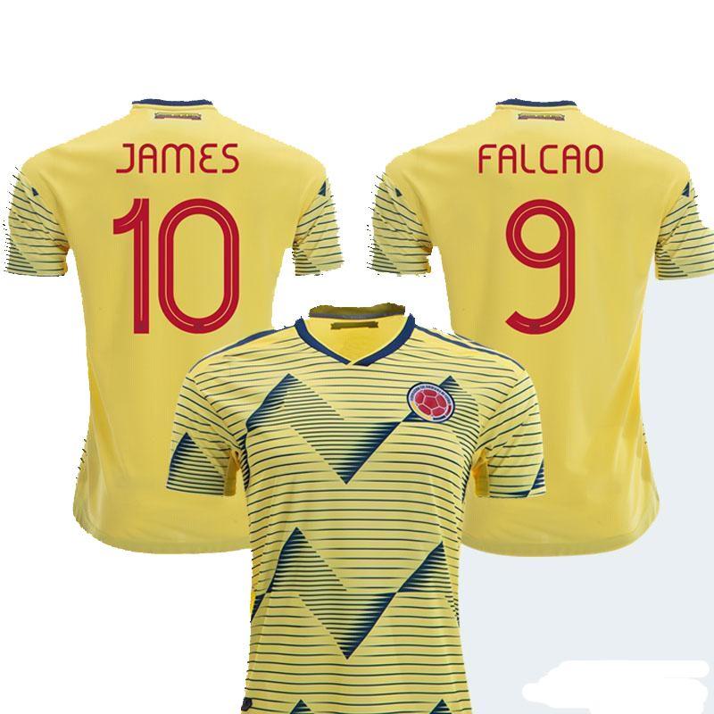 d35600f2274 2019 2019 Colombia Soccer Jerseys Home Away Shirt 10 JAMES 9 FALCAO 11  CUADRAD 8 AGUILAR 13 GUARIN 6 SANCHEZ Football Kits From Cnsoccer