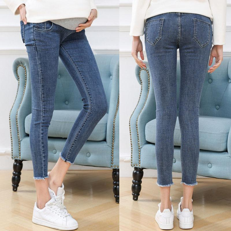 815dab045 2019 3XL Ninth Pants Maternity Jeans For Pregnant Women Clothes High  Quality Skinny Denim Stretch Jeans Pregnancy Pants Spring Summer From  Jeanyme