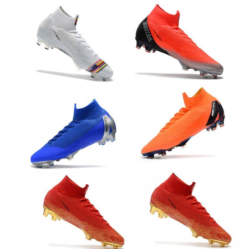 best sneakers bd7dc 6ab24 Kids Mercurial Superfly VI 360 Elite FG LVL UP KJ CR7 Cristiano Ronaldo  Mens soccer cleats Boys Soccer Football Boots us3-11 Soccer Shoes