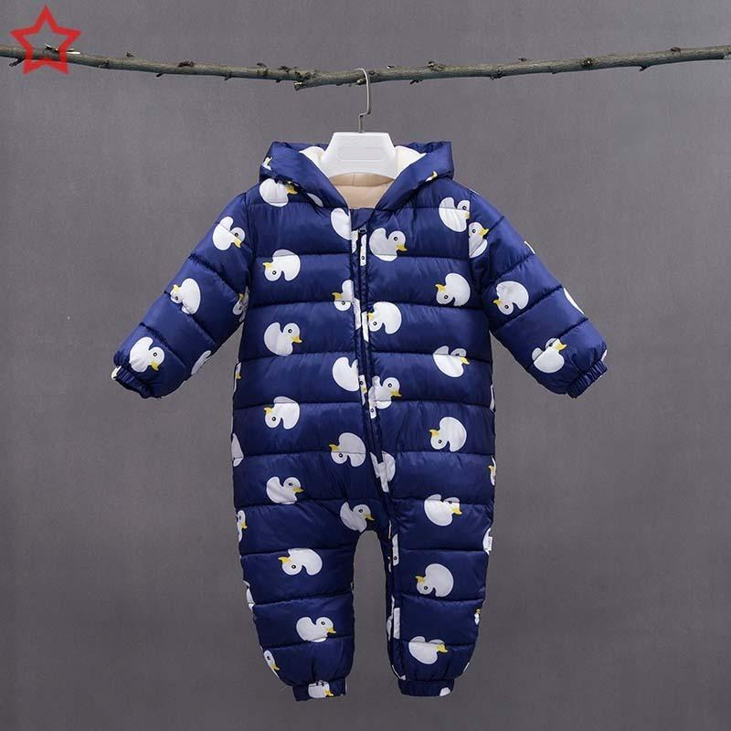 b1b5e2362 2019 Good Quality Infant Baby Boys Rompers 2019 Newborn Winter Warm ...