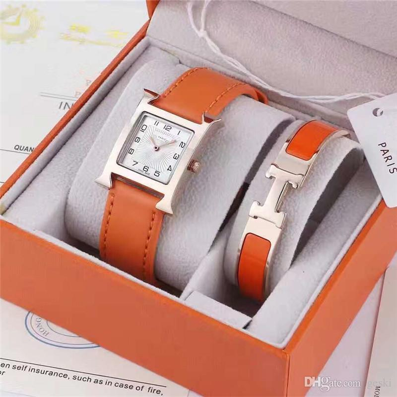 Fashion Top Brand 2 Sets Women Luxury Watch Bracelet Rose gold Dresses Wristwatches for lady girl Water Resistant Montre de luxu 2019