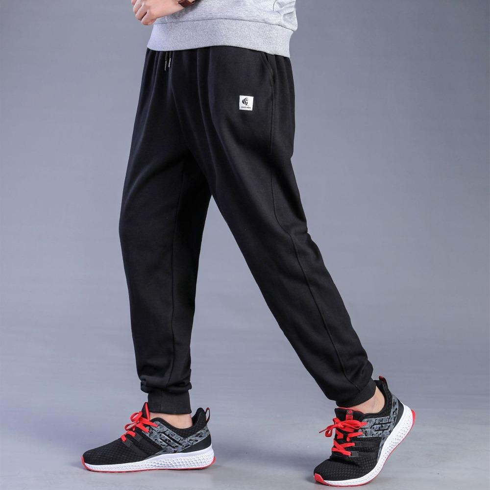 9269ce61fe6797 2019 Men Big Size Joggers Sweatpants Spring Autumn Elastic Narrow Feet Pants  Loose Bottoms Breathable Casual Cotton Jogger Trousers From Candycloth, ...