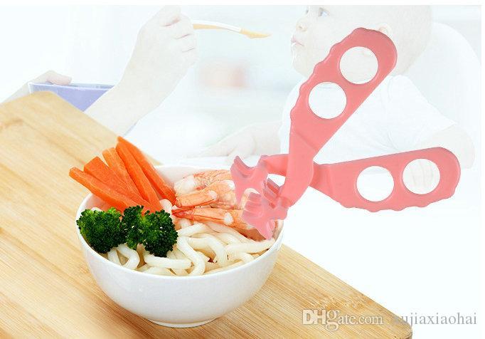 Aliments pour bébés Mills Aliments Concassés Ciseaux Clip Nouveau-né Infant de Légumes Supplément Ciseaux Alimentation de Bébé couleurs mélangées