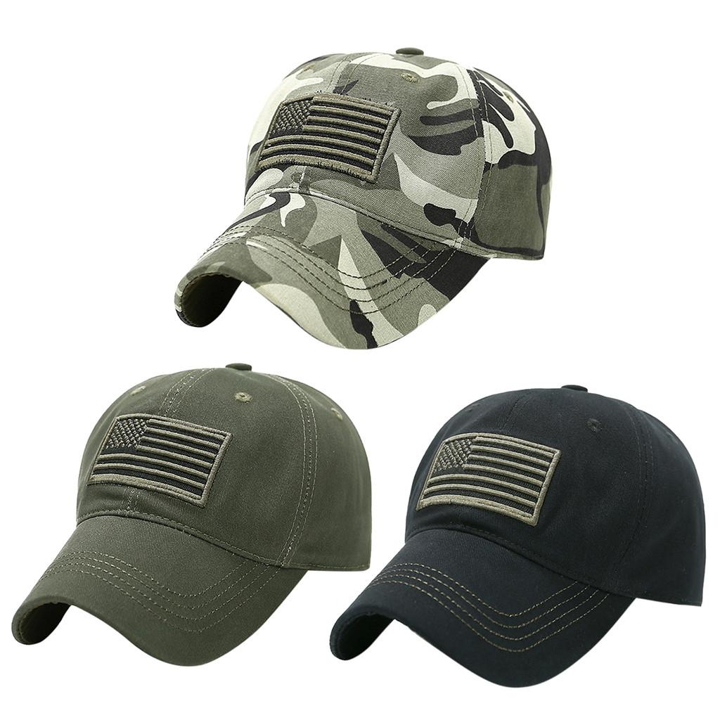 YOUYEDIAN Cotton Trucker Special Tactical Operator Forces USA Flag Patch Baseball Cap Snapback Adult Unisex Adjustable Cap