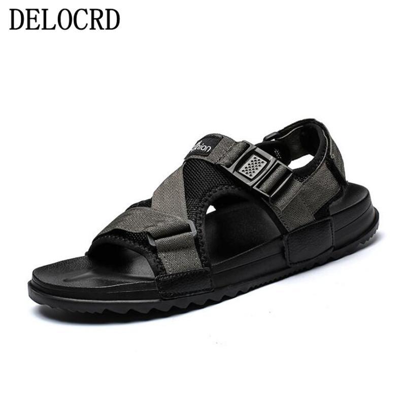 2a92b0a9fe Sandals Men Shoes Summer 2019 Beach Gladiator Fashion Men's Outdoor ...