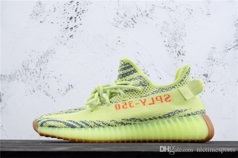 20b9df73e 2019 2018 Butter Blue Tint Frozen Yellow Zebra 350 V2 Shoes Sesame Cream  White Beluga 2.0 WOMENS MENS Running Sneaker Shoes Kanye West From  Nictimesports