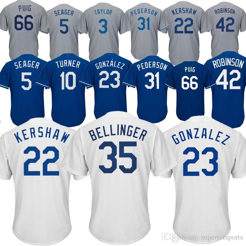 meet e13e6 00a93 Kansas City Royals 35 Cody Bellinger Jersey 10 Justin Turner 22 Clayton  Kershaw 23 Adrian Gonzalez 31 34 66 Yasiel Puig 14 Enrique Hernandez
