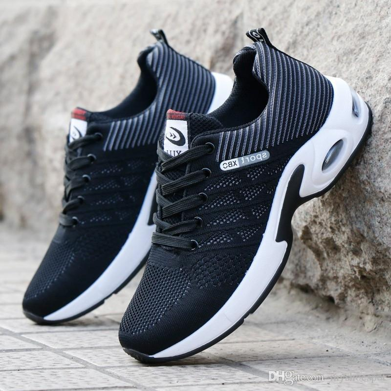 b3f9d72735bd6 Fashion 2019 Men Casual Shoes Summer Outdoor Breathable Work Shoes Men  Sneakers Mesh Air Cushion Male Non Slip Adult  340471 Dansko Shoes Indoor  Soccer ...