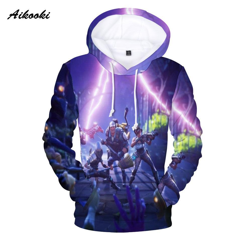 2019 Aikooki Fortnite 3d Printed Hoodies Women Men Polluvers