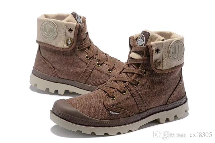 eef593cc1763 PALLADIUM Women Baggy Sneakers Soldiers Boots Comfortable Canvas Casual  Shoes Fashion Shoes Mens High Boots Unisex Designer Shoes Size 35 45 Green  Shoes ...
