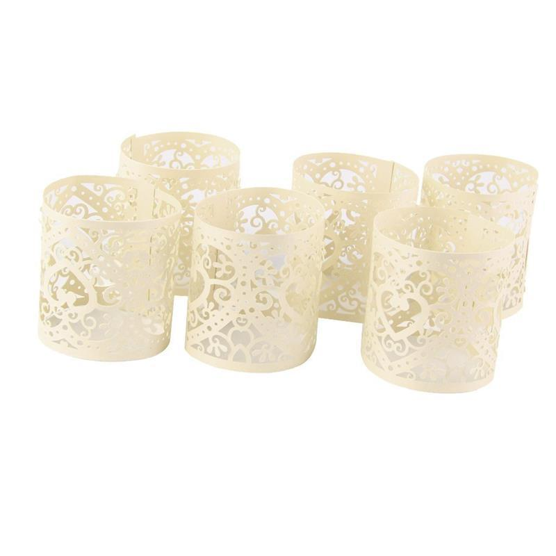 304cb3a889a Cream White Candle Holders Paper Hollow Shade Decoration Wedding Table Home  Decor Light Dinner Table Decorate Votives Candle Holders Wall Candle Holder  From ...