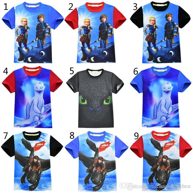 540de816a4d5e Acheter 9 Style Garçons Filles Comment Dresser Votre Dragon 3 T Shirts 2019 Nouveaux  Enfants De Dessins Animés Sans Dentelle T Shirt Manches Courtes ...