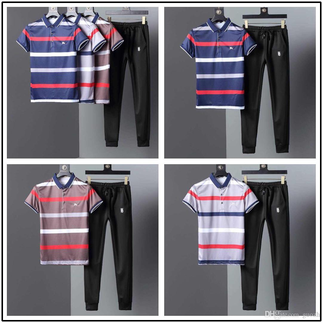 f913b6dd4 18SS Conjuntos de niños creativos Diseñadores Camisetas pantalones Ropa de  moda para hombre Traje de dos piezas Traje urbano de tendencia Camiseta ...