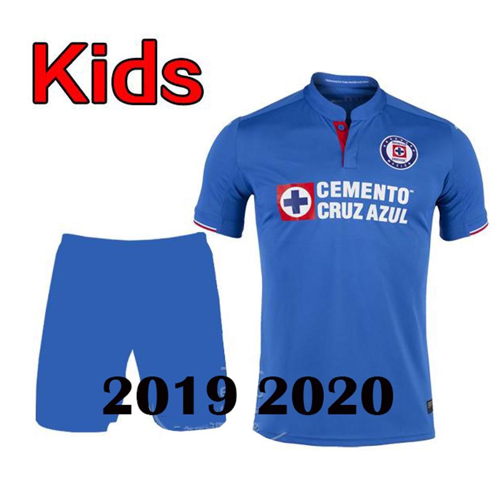 b6e0f0102c0e7 De Calidad Superior 2019 2020 Liga MX Cruz Azul Kit De Camisetas De Fútbol  Para Niños Camisetas Al Aire Libre Cruz Azul 19 20 Niño Niño Niña Camisetas  ...