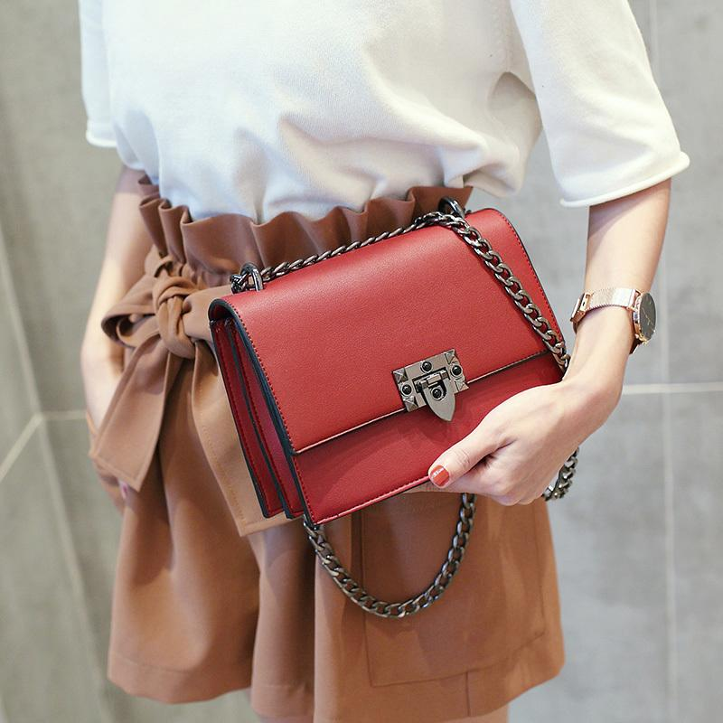 31f2b838c79b9 2019 Famous Brands Women Bag Chain Pu Leather Shoulder Bags Female Luxury  Designer Handbags Crossbody Bags Ladies Red Bags 324 Ladies Handbags Leather  ...