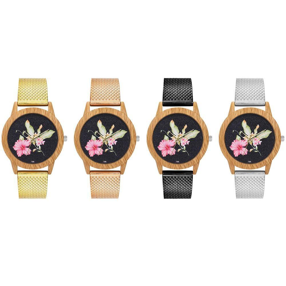 Watches Zhoulianfa Fashion Mesh Strap Male Female Watch Flower Pattern Quartz Wristwatch Comfortable And Easy To Wear