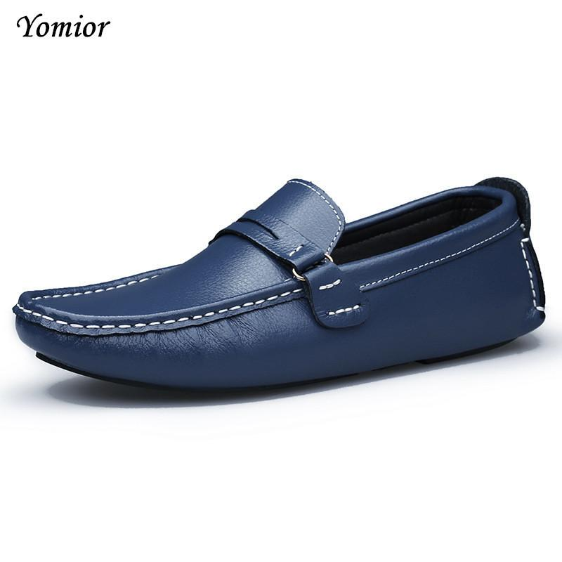 cd10e03a8f921 Yomior Brand New Colors Cow Leather Men Flat Shoes Soft Moccasins ...