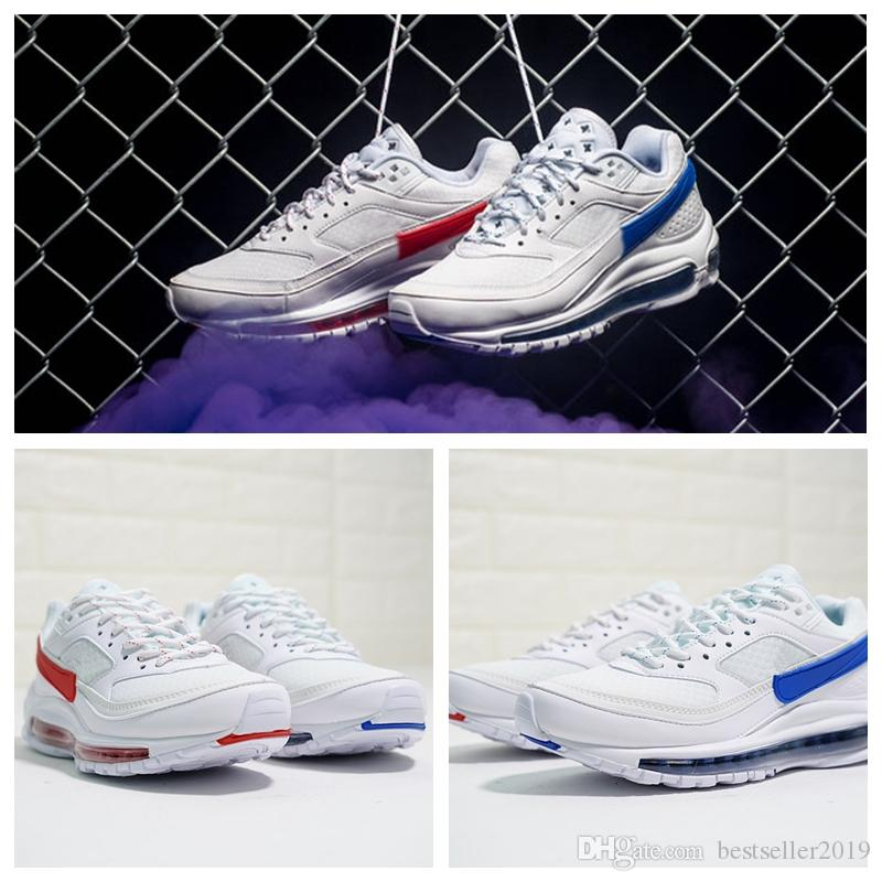 f3bd0b0b872d 2019 New Brand 97 BW X Skepta London Bronze Running Shoes 97s QS Women Mens  Trainers White Red Blue Two Tone Sports Sneakers Zapatillas Best Running  Shoes ...