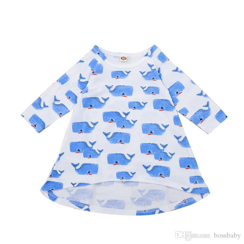 125f88b5d 2019 Girl Dress Cartoon Whale Baby Print Skirt Kids Clothing Long Sleeve  Children Skirt Infant Child Cartoon Pictures 11 From Bossbaby