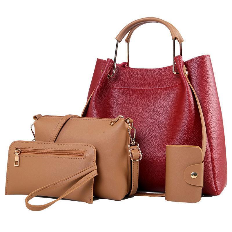 Hot Sale Large Capacity Women Handbags Pu Leather Composite Bag Set  Designer Shoulder Bag Ladies Crossbody Hand Bags Ladies Purse Leather  Briefcase From ... be9366ca6e462